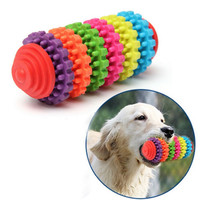 Colorful Rubber Pet Dog Puppy Dental Teething--Healthy Teeth Gums Chew Toy Tool