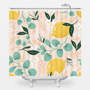 Lovely Lemons Shower Curtain