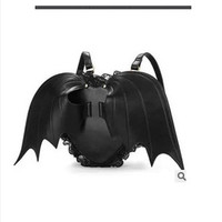 Online Shop 2015 New Demon stereo love black lace personalized wings backpack female devil bat backpack travel bag Christmas bags NANA871|Aliexpress Mobile