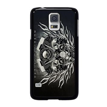 HARLEY DAVIDSON SKULL ENGINE Samsung Galaxy S5 Case Cover