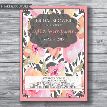 Printable Bridal Shower Invitation, WEDDING SHOWER INVITE, Rustic bridal shower invitation, bridal invitation, bridal shower, Wedding Shower