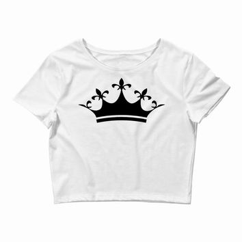 Queens Are Born In February Back Crop Top
