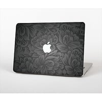 "The Black & Gray Dark Lace Floral Skin Set for the Apple MacBook Pro 15"" with Retina Display"