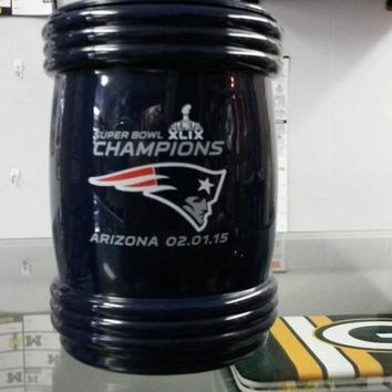 NFL 2015 Super Bowl Champion New England Patriots Magna Can Coozie / Can Holder