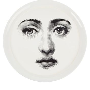 Fornasetti Tray 'viso on white'