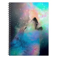 Galaxy Wolf Remix • Custom Design Notebook