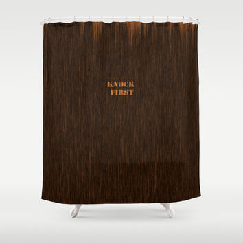 Knock First Shower Curtain by Liberation's
