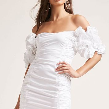 Ruched Off-the-Shoulder Dress