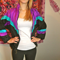 Retro Multicolored Windbreaker