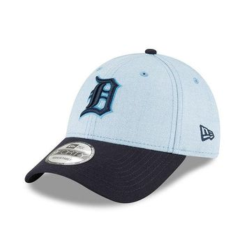 MLB Detroit Tigers Light Blue 2018 Father's Day 9FORTY Adjustable Hat