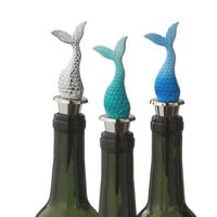Mermaid Tail Wine Bottle Stopper (Aqua)
