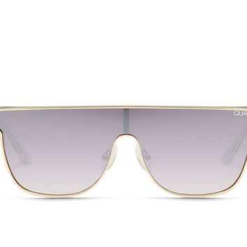 Quay Can You Not Gold Sunglasses / Purple Fade Lenses