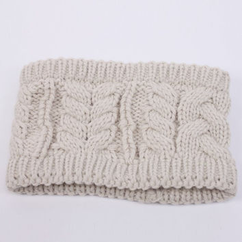 Winter Accessories ~ Headband. Winter Cream Wide Band Infinity Knit Ear Warmer. Thick, Extra Plush Braided Cable Knit. Assorted Colors Available.