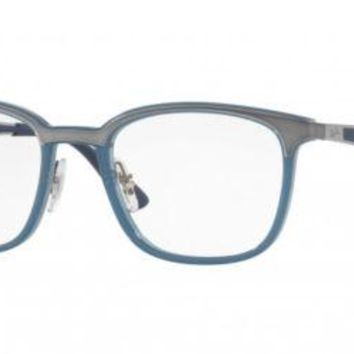 Glasses vista Ray-Ban RX7117 8019 TRANSPARENT LIGHT BLUE/SILVER