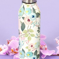 Peach Floral Water Bottle | Monday Dress Boutique