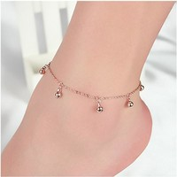 Sexy Ladies Shiny Cute Jewelry Gift New Arrival Korean Accessory 925 Silver Lovely Stylish Anklet [6768768711]