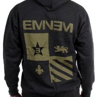 Eminem - Mens Detroit Seal Zip-Up Hoodie, Size: Medium, Color: Black