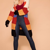 Juno Stripe Sweater Cardigan