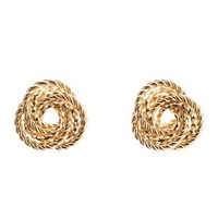 Gold Twisted Infinity Knot Stud Earrings by Charlotte Russe