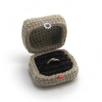 Crocheted Ring Box by NeedleNoodles on Etsy