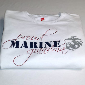 USMC Marine Corps Proud Grandma/Mom/Wife/Girlfriend/Sister/Aunt Women's Sweatshirt