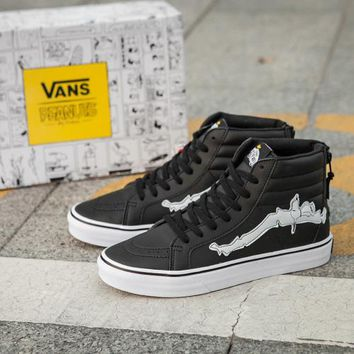 Vans Sk8-Hi x Peanuts New Pattern Canvas Old Skool Flats Sneakers Sport Shoes