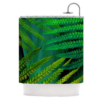 "Alison Coxon ""Forest Fern Green"" Plant Shower Curtain"