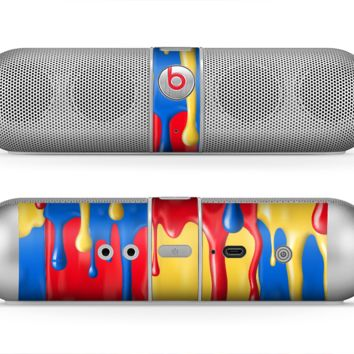 The Vector Paint Drips Skin for the Beats by Dre Pill Bluetooth Speaker
