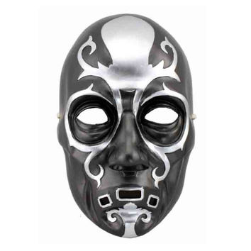 Harry Potter Collectible Film Mask Death Eater Lucius Malfoy Full Face Resin Skull Mask Halloween Party Men Cosplay Bauta Mask