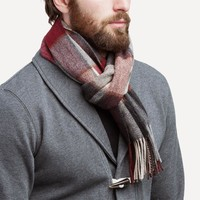 Rich Wool Scarf in Berry