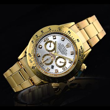 Rolex three fashionable tide brand watches F-SBHY-WSL Gold + gold case + white dial