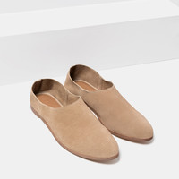FLAT LEATHER SHOES - View all-SHOES-WOMAN | ZARA United Kingdom