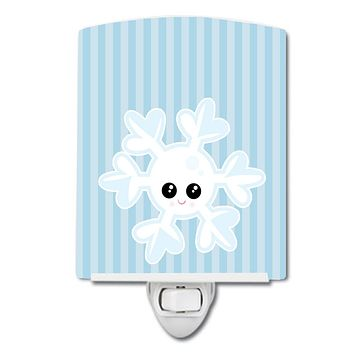 Weather Snowflake Face Ceramic Night Light BB7149CNL