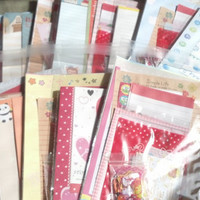 Large Random Kawaii Letter Set with stickers and memo sheets