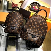 ONETOW Tagre? LV Louis Vuitton Women Casual Daypack School Bag Cowhide Leather Backpack