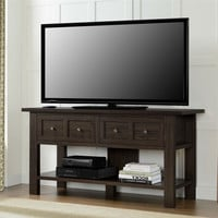 Classic 55 Inch TV Stand Versatile Accent Console Table With 2 Storage Drawers
