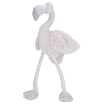 JOON Beaky The Flamingo Stuffed Animal, Light Grey, 9.5 Inches