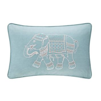 Ink+Ivy Zahira Embroidered Oblong Throw Pillow | Overstock.com Shopping - The Best Deals on Throw Pillows