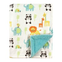 Luvable Friends Baby Boy and Girl Plush Blanket, Ocean - Walmart.com