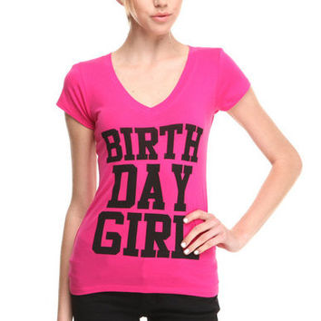 Birthday Girl - Birthday Gift Box with Pink Birthday T-shirt, Shot Glass, Zodiac Necklace Birthday Gift Bag for Girls, Woman's Birthday Gift