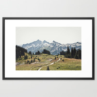 Mountain Trail Framed Art Print by Kurt Rahn