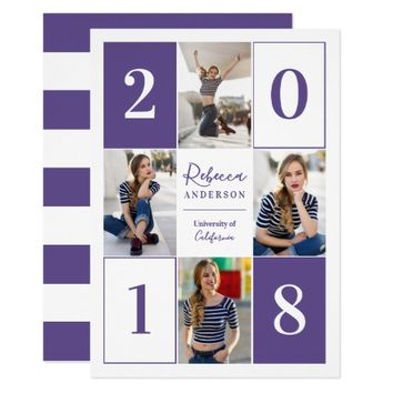 New Grad 2018 Photo Graduation Party Announcement
