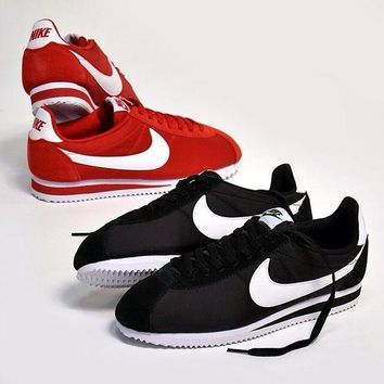 NIKE Cortez Forrest gump lovers shoes running shoes running shoes Black white hook