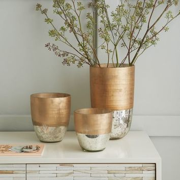 Textured Mercury Vases