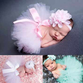 Baby Newborn Photography Props Baby Tutu Skirt Hat Headband Set Photos Props New Born Photography Props Accessories fotografia