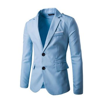 2016 HOT Casual Slim fit  Stylish Single Breasted Suit  Blazer  Mens Coat  Male Fashion  Turn-down  Neck Formal Clothing  PX39