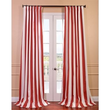 Cabana Spice Striped Cotton Curtain Panel