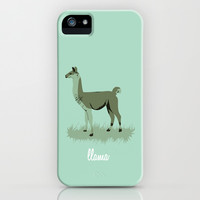 4-legged Exotica Series: Llama iPhone & iPod Case by Denise Medina