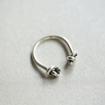 Knot Ring - Open Ring - Adjustable Ring - Girlfriend Gift - Bridesmaid Gift - Tie the Knot - Statement Ring