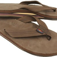 Men's Premier Leather Double Layer Arch Sandal in Expresso by Rainbow Sandals